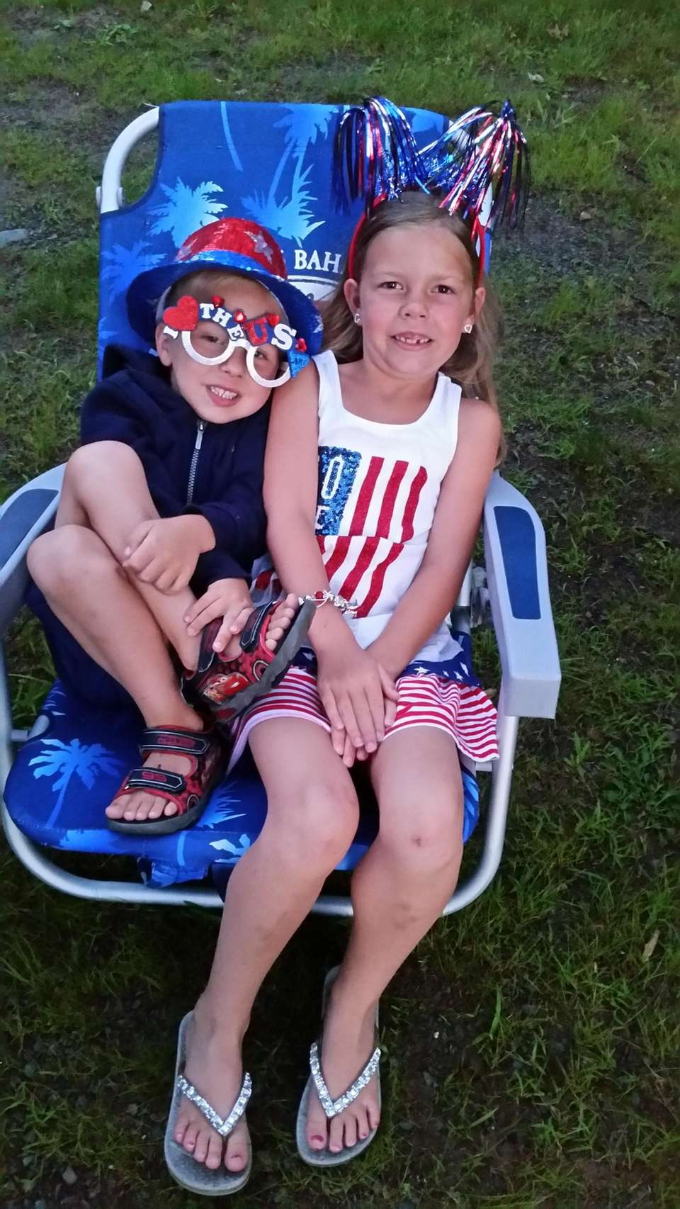 4th of July Patriotic kids! My grand-kids Ashley