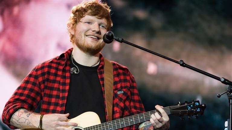 Ed Sheeran at the Glastonbury Festival on June
