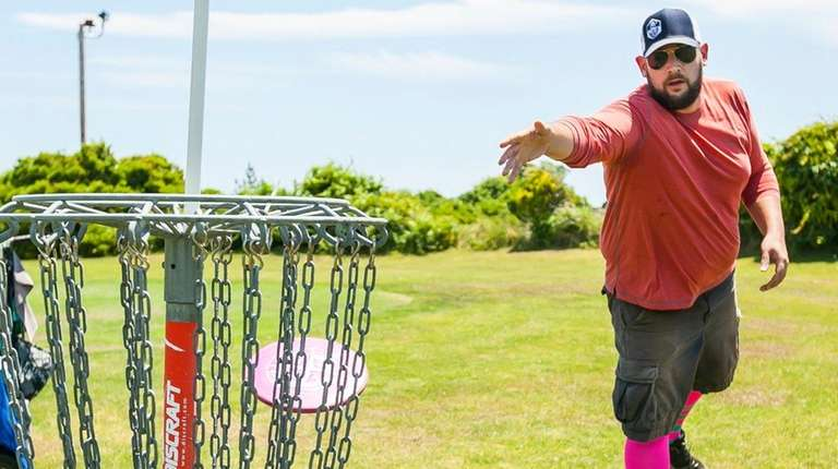 Nick Grgas of Wantagh plays disc golf at
