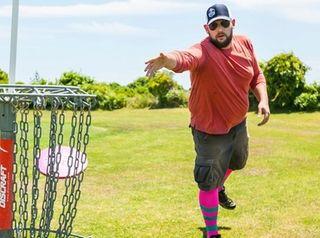 Nick Grgas of Wantagh plays disc golf at