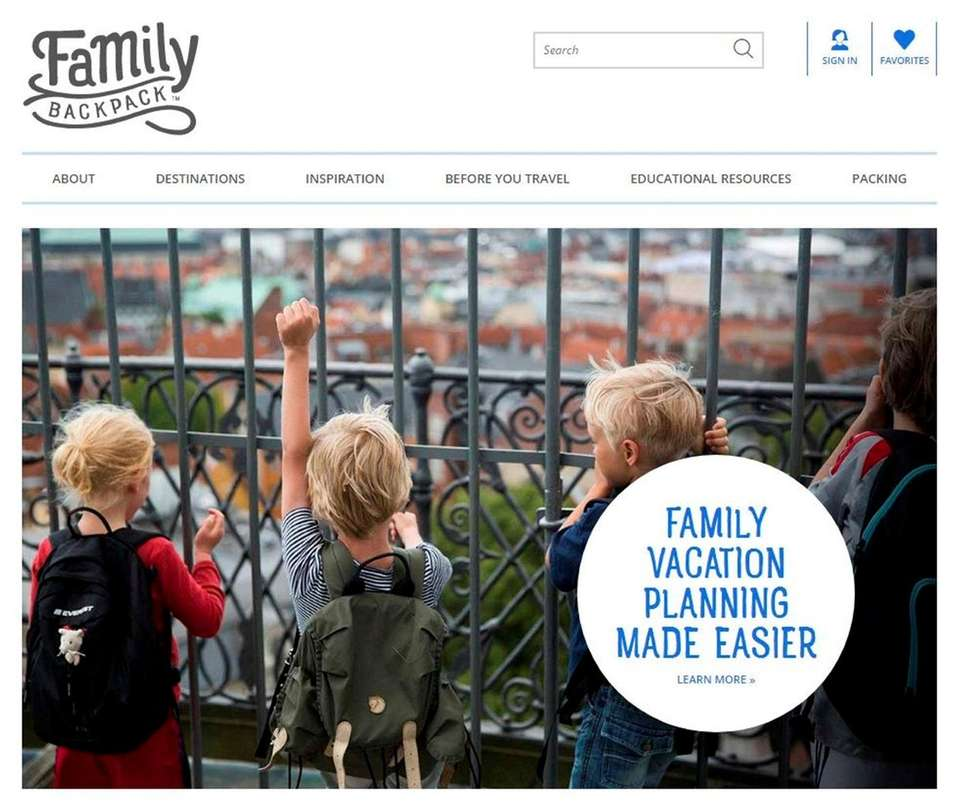 NAME thefamilybackpack.com/ WHAT IT DOES The easy-to-use website
