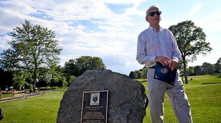 Former Port Jefferson Mayor Harold Sheprow walks past