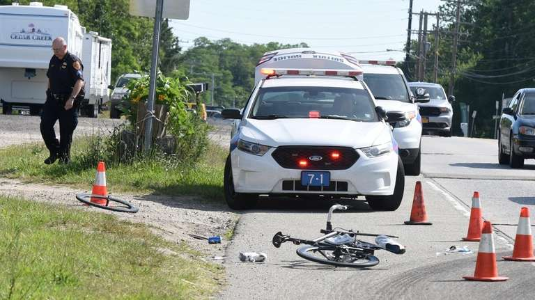 A bicyclist was seriously injured after being struck