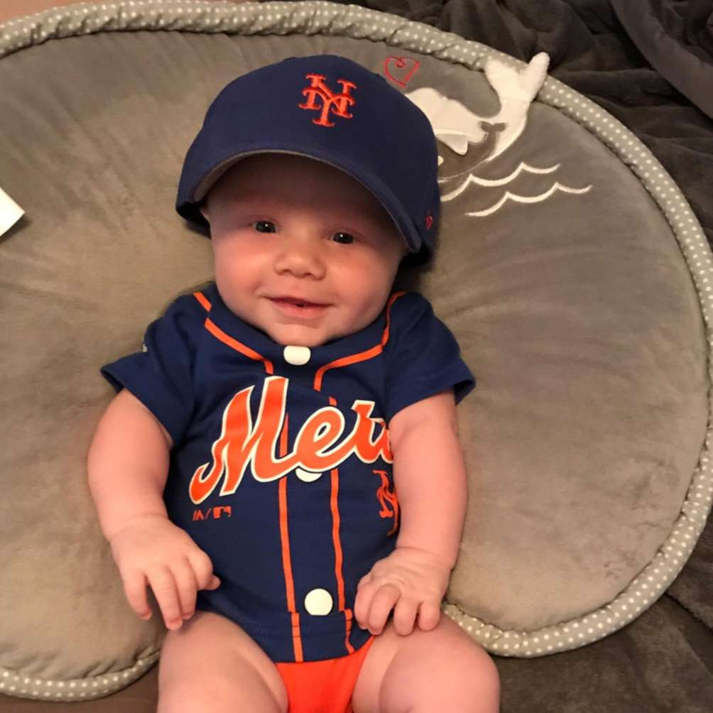 Connor getting ready to watch the Mets play!!