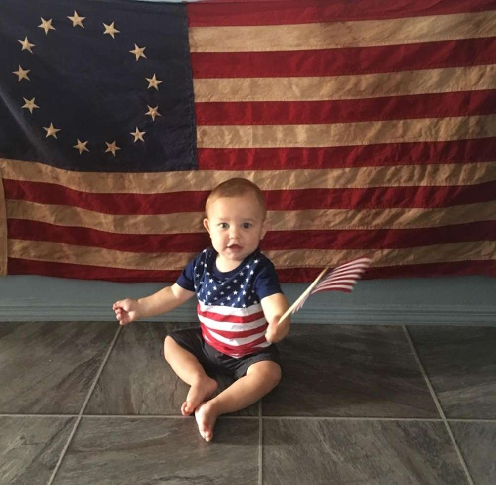 A Patriotic Baby! Seamus celebrates his first American