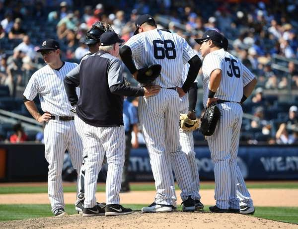 New York Yankees pitching coach Larry Rothschild speaks