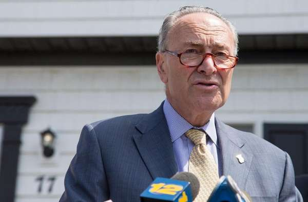 Senator Charles Schumer speaks on Wednesday, July 5,