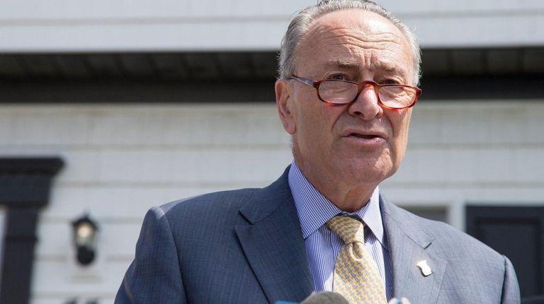 Senator Charles Schumer speaks on Wednesday, July 5,