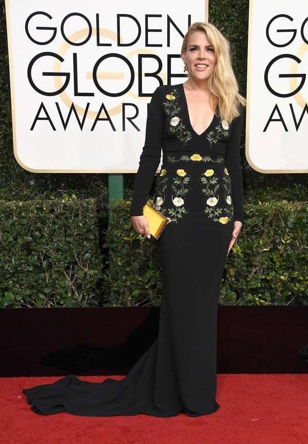 Actress Busy Philipps at the Golden Globe Awards