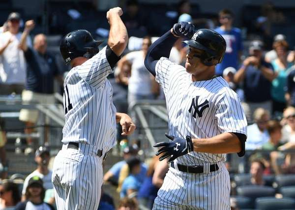Aaron Judge dents Yankee Stadium with latest home run