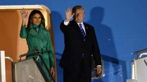 First lady Melania Trump and President Donald Trump