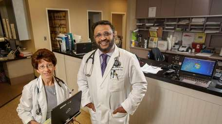 Dr. Robin Dacosta, left, and Dr. Mohammed Azaz