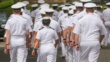 Cadets at the Merchant Marine Academy at Kings
