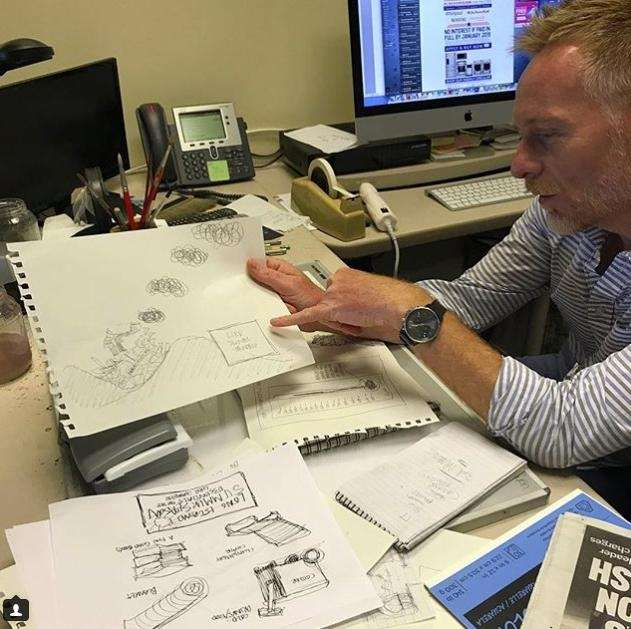 Newsday Cartoonist Matt Davies brainstorms ideas for an