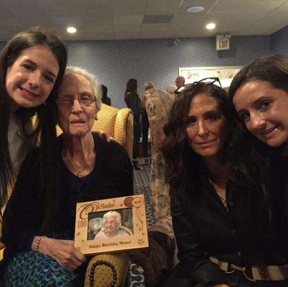 The family of Josephine Rotolo gather at Chapey