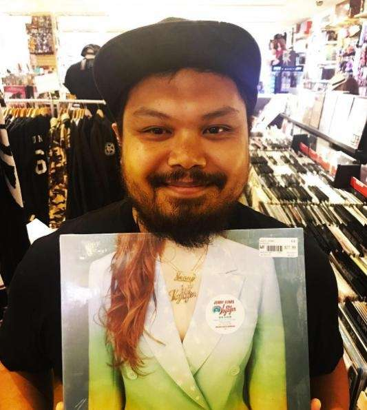 Juris Magararu, the manager of Newbury Comics at