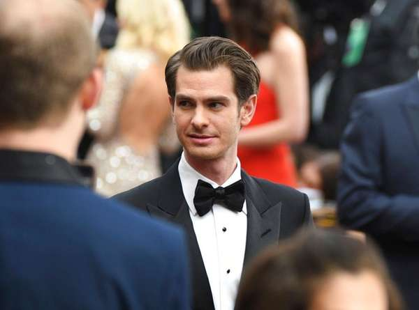 Andrew Garfield arrives at the Oscars at the