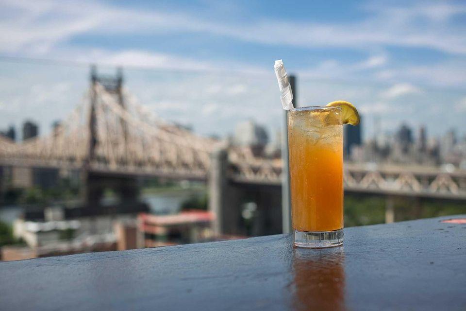 A Long Island Iced Tea is made with