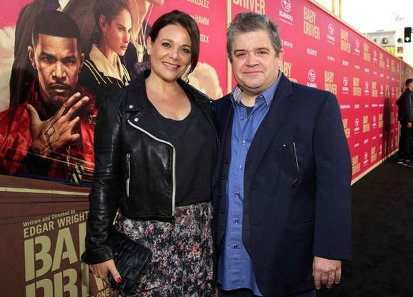 Meredith Salenger and Patton Oswalt at the premiere