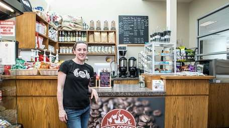 Susan Kennedy, who owns Tend Coffee with her