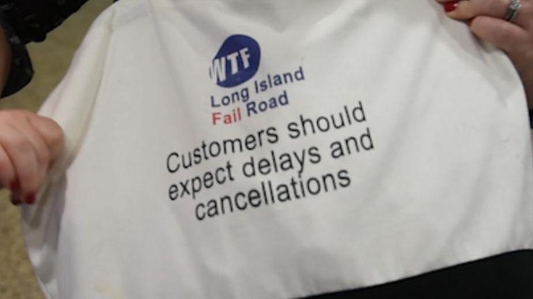Frustrated Long Island Rail Road commuters Deirdre Vesce