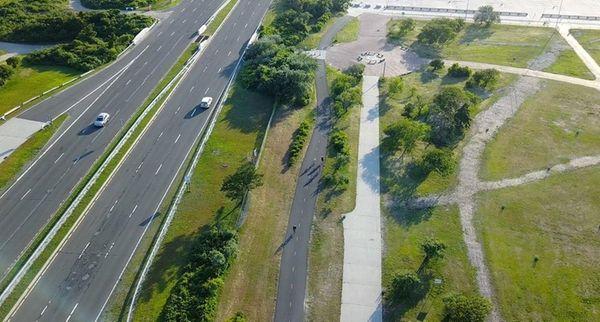 Ocean Parkway near Jones Beach Field 5.