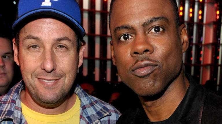 Adam Sandler and Chris Rock at the MTV