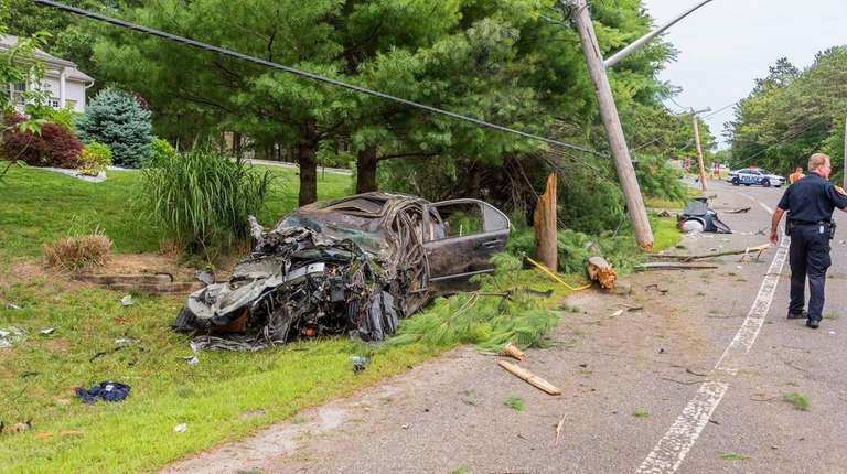 Police said a driver was injured after losing