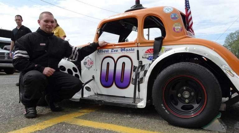 Chris Rogers, a Legends Car racer at Riverhead