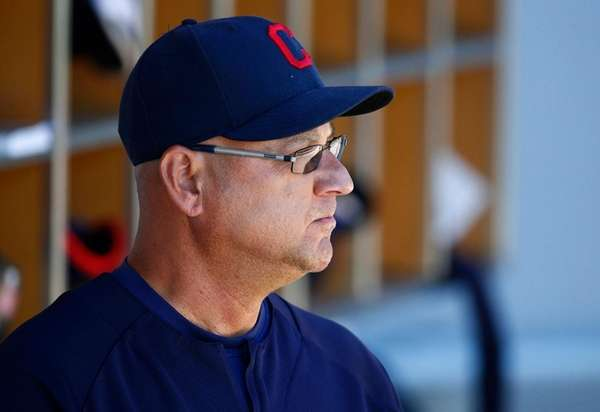 Indians manager Terry Francona looks on before aspring