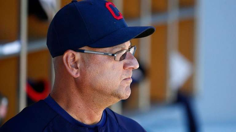 Indians manager Terry Francona looks on before a spring