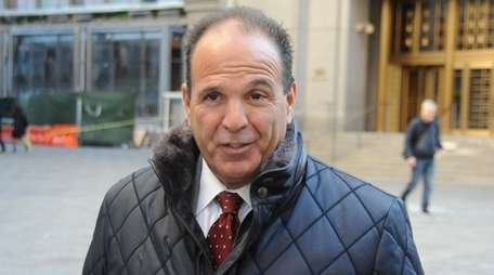 Government witness Anthony Bonomo leaving the Federal court