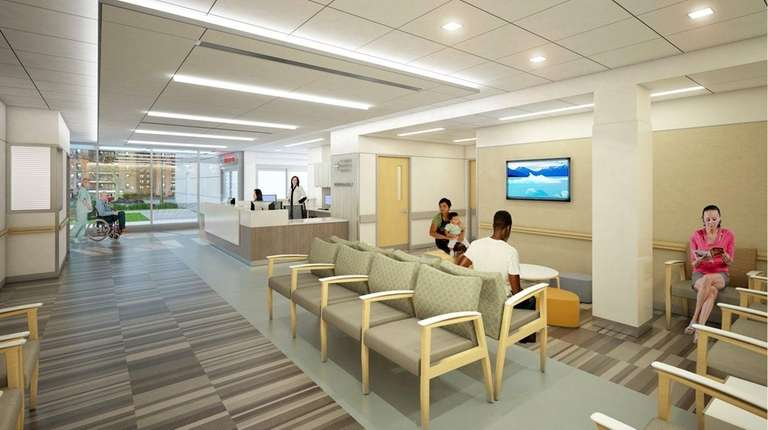 A rendering of the St. John's Episcopal Hospital