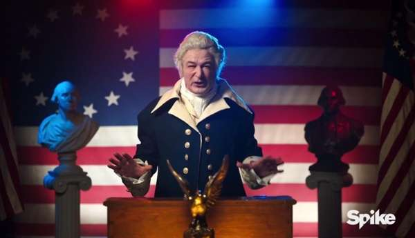 Alec Baldwin appears as another president -- George
