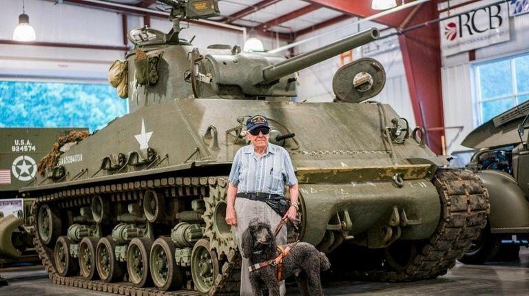 Sy Lederman, of Smithtown, a WWII Sherman Tank