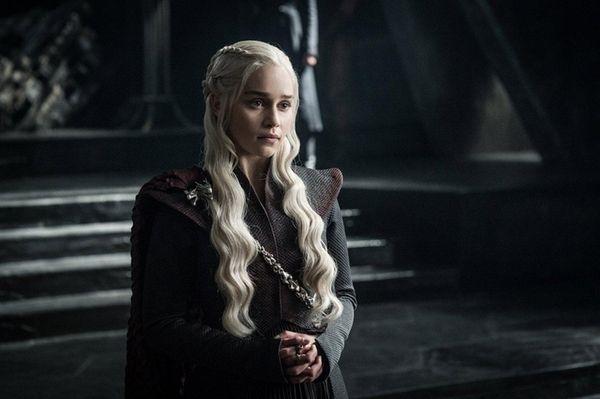 Emilia Clarke as Daenerys Targaryen in season 7