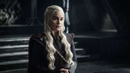 Emilia Clarke as Daenerys Targaryen in season 7