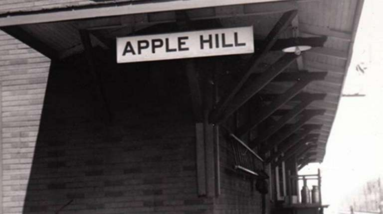 The old train station in Apple Hill, Ontario,