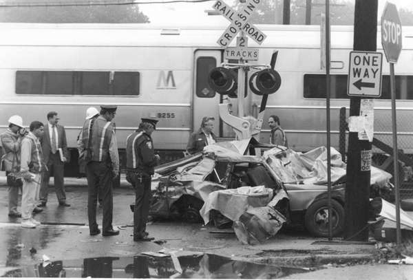 Authorities at the scene of an October 1993