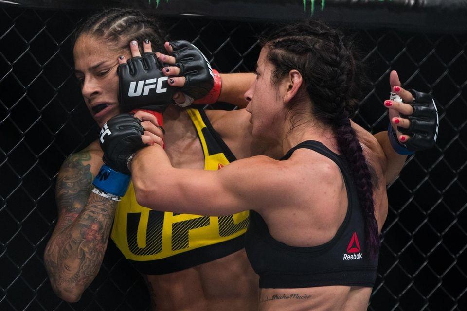 Women's UFC strawweights Tecia Torres and Juliana Lima