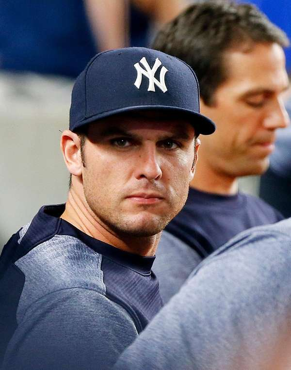 Greg Bird of the Yankees looks on against