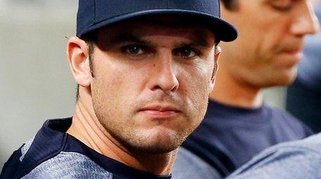 Greg Bird of the Yankees looks on against