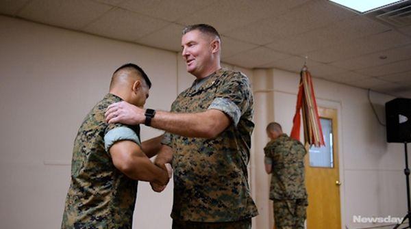 Lt. Col. Ed Bitanga relinquished command of the