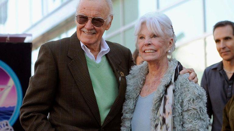Joan Lee with her husband, comic book creator