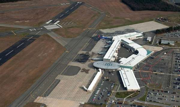 Aerial view of Long Island MacArthur Airport.