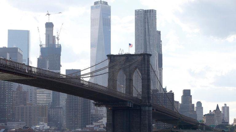 Walking over the Brooklyn Bridge provides great views