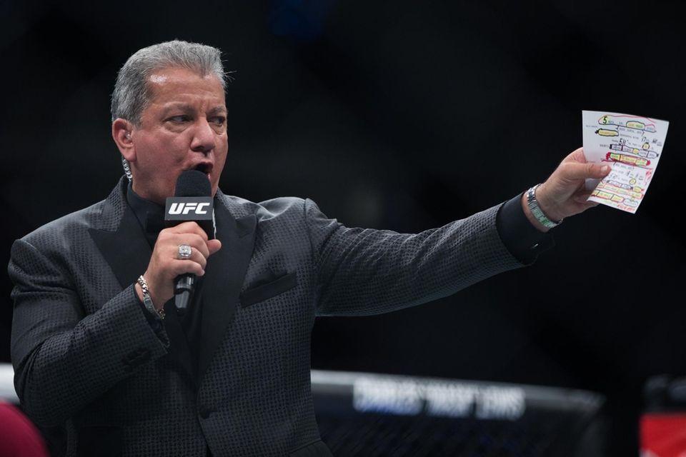 Bruce Buffer announces the UFC lightweights Michael Johnson