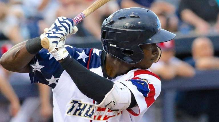 Jorge Mateo of the Yankees' double-A affiliate Trenton