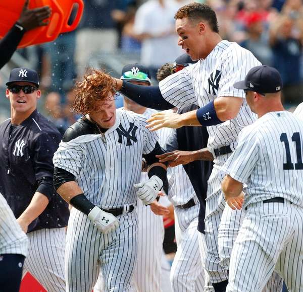 Clint Frazier #30 of the New York Yankees