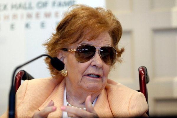 Nancy Jeffett at the International Tennis Hall of